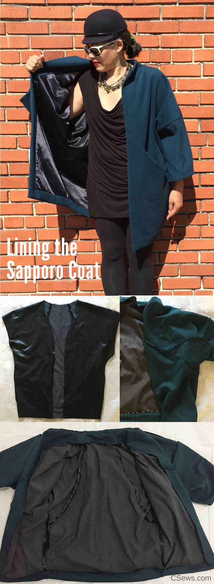 Lining the Sapporo Coat - Papercut Patterns - CSews
