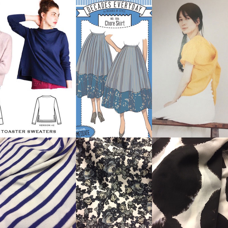 Make Nine 2018 - Toaster Sweater, version 2, Chore Skirt and Twist-and-Drape top