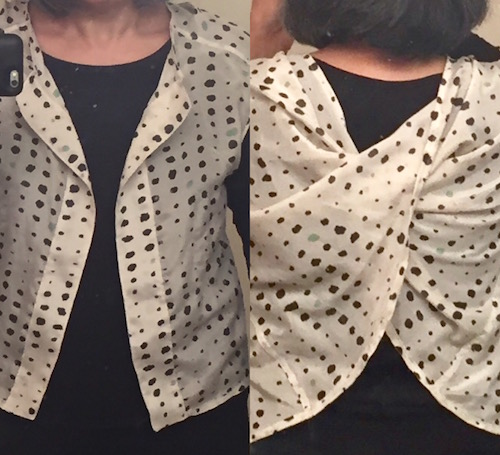 Twist-and-Drape top from Japanese sewing book Drape Drape by Natsuno Hiraiwa - Make Nine 2018