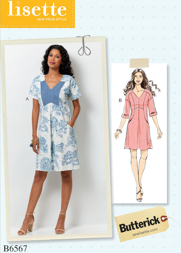 Big Four 2018 Spring Patterns - Butterick B6567 Lisette dress - CSewscom