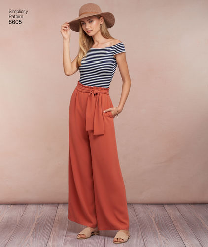 Big Four 2018 Spring Patterns - Simplicity 8605 paper-bag waist pants pattern