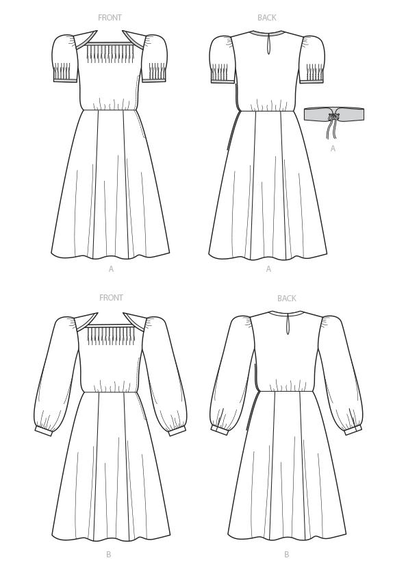 Big Four 2018 Spring Patterns - Vintage Vogue reissue 1940s - line drawing - CSews.com