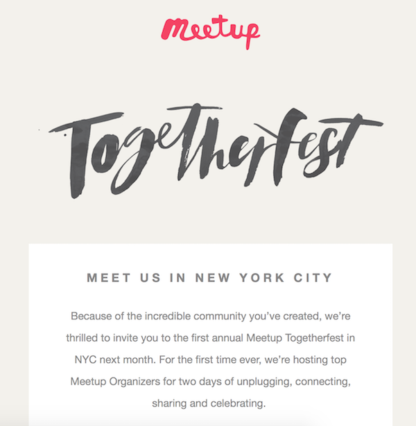 Meetup Togetherfest