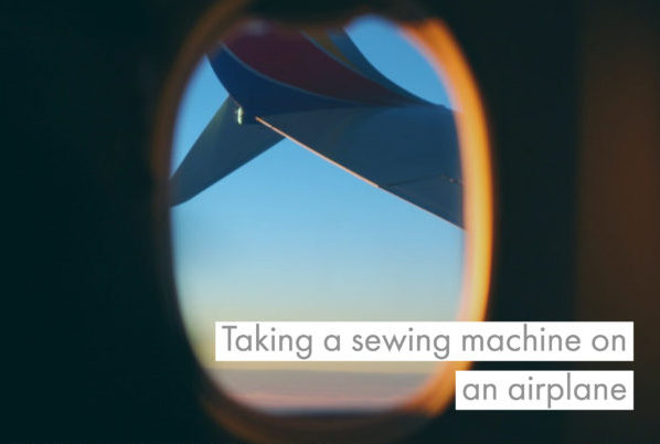 Taking a sewing machine on an plane