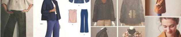 Jacket sewing patterns - V1098, New Look 6532, V8620 and the Oversize Kimono Jacket by Jenny Gordon - CSews.com