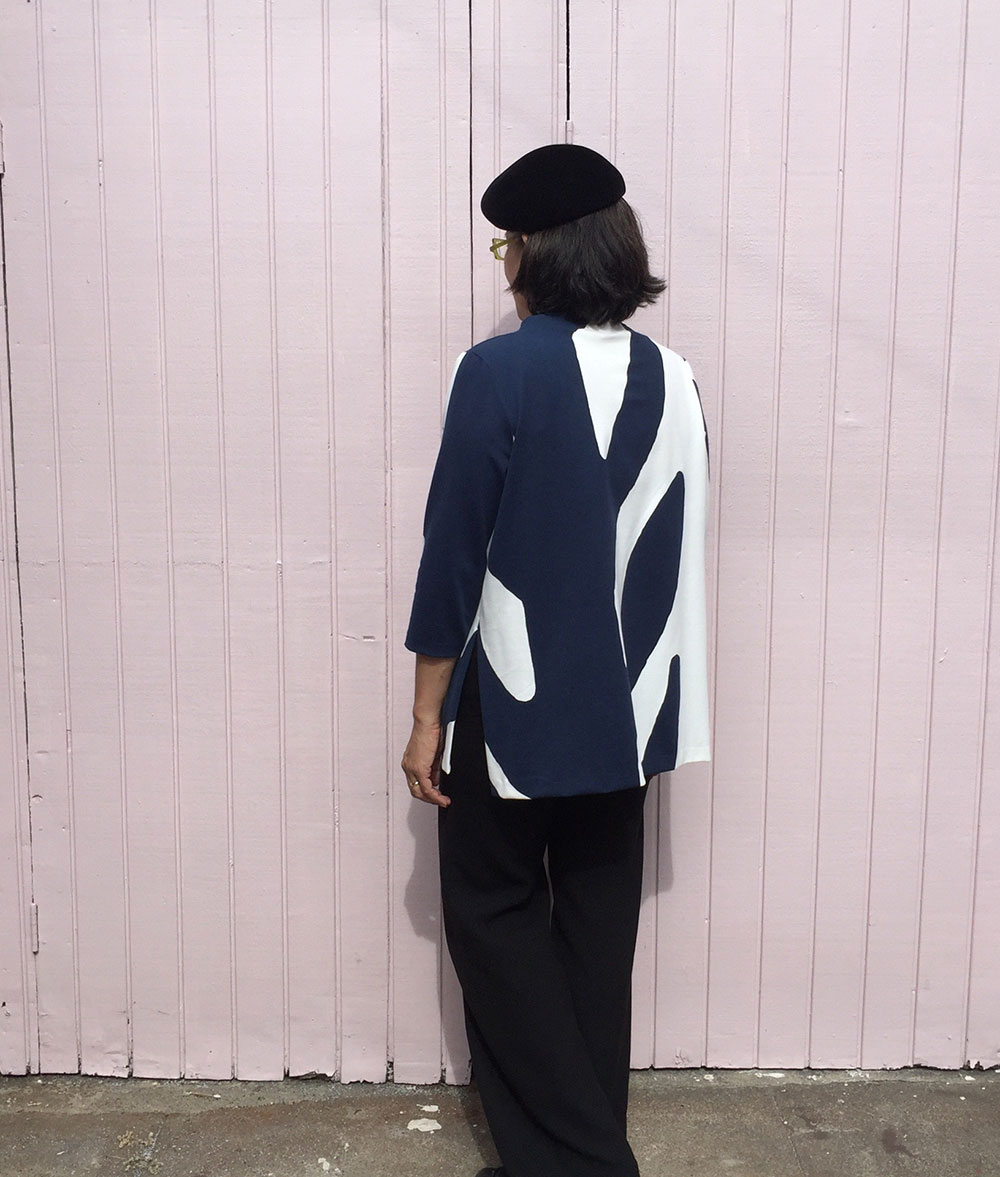 Toaster Sweater 2 - front view - big print ponte fabric - CSews.com