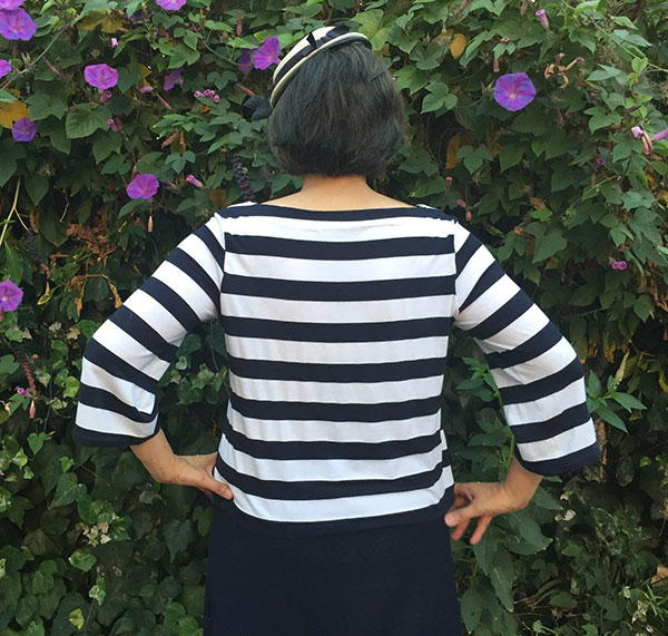 Striped knit top - She Wears the Pants by Yuko Takada - Japanese sewing book Tuttle Publishing - CSews.com