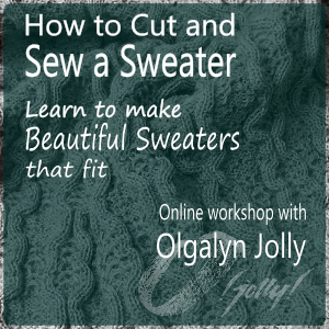 How to cut and sew a sweater - Olgalyn Jolly