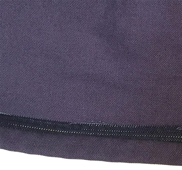 Inside view of hem and horsehair braid - CSews.com